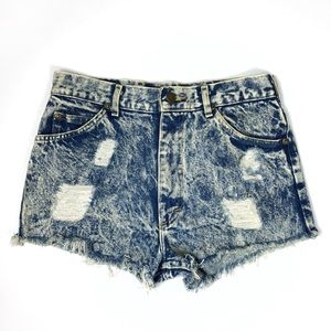 Vintage Lee distressed cutoff high waisted shorts